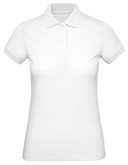 Frauen Polo in Bio Qualität Produktbild in Farbe Weiß