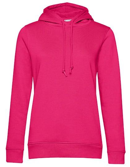 Frauen Hoody in Bio Qualität zum bedrucken & Besticken in Farbe Magenta Pink