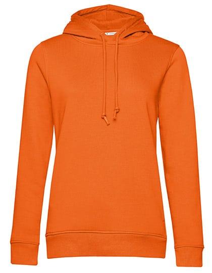 Frauen Hoody in Bio Qualität zum bedrucken & Besticken in Farbe Pure Orange