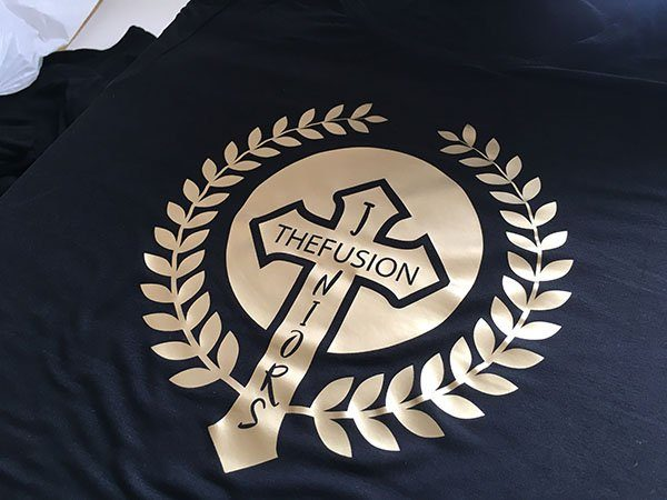 Tshirts mit Golddruck für Tanzakademie